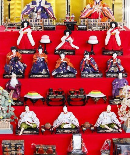 雛人形七段飾り、十五人飾りパート7五人囃子について