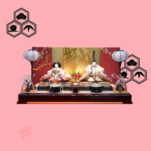 雛人形七段十五人飾りパート6飾り方お雛さまは、左か右か